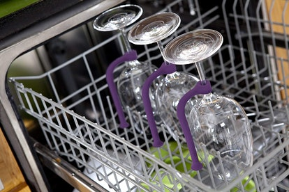 Quirky Stemware Saver Silicone Dishwasher Attachment (4-Pack)
