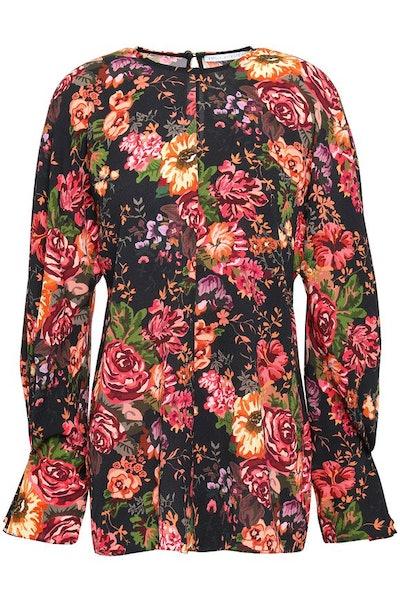 Floral-Print Georgette Top