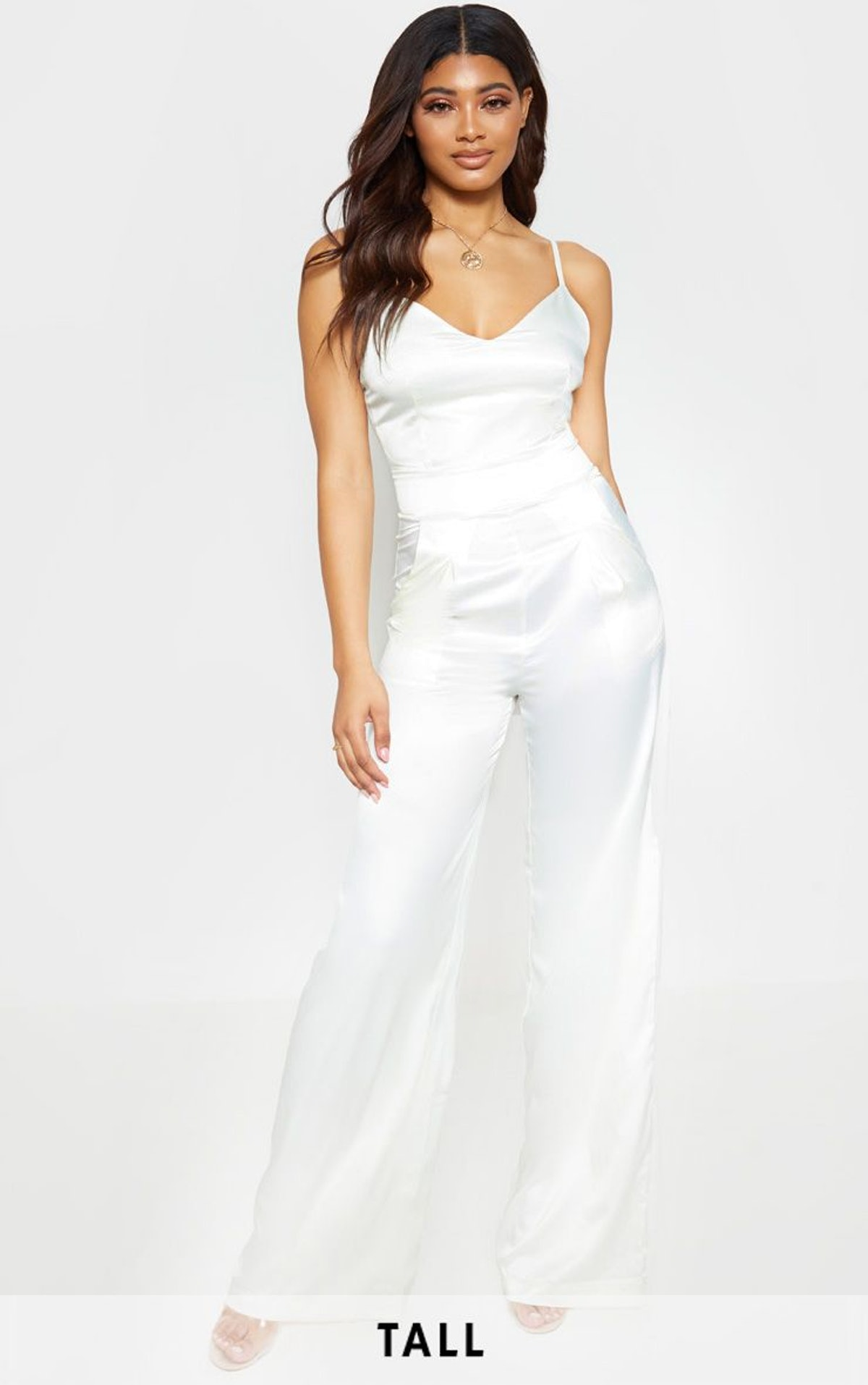 Strappy Satin Jumpsuit - TALL