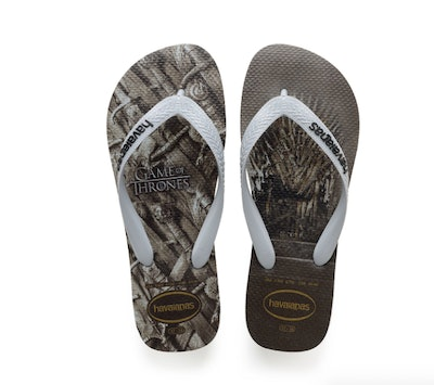 Women's Top 'Game of Thrones' Flip Flops Steel Grey