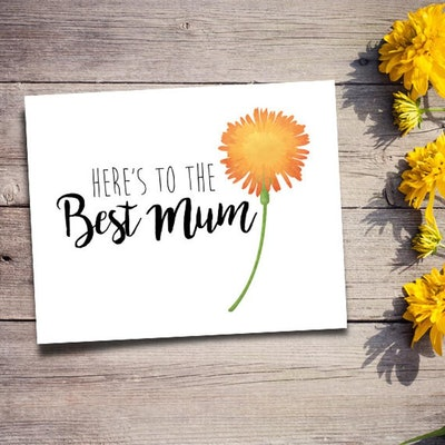 Here's To The Best Best Mum Card