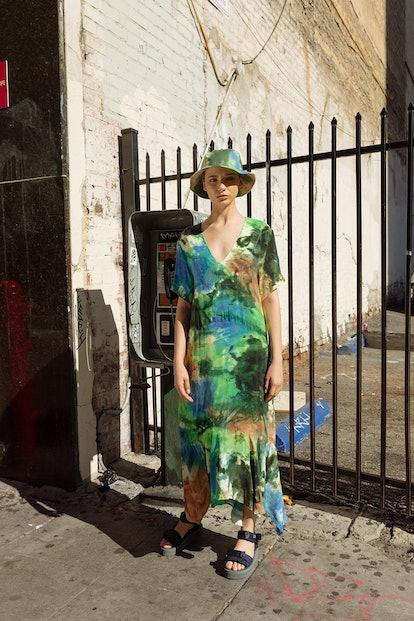 Clove Dress in Earth Tie-Dye
