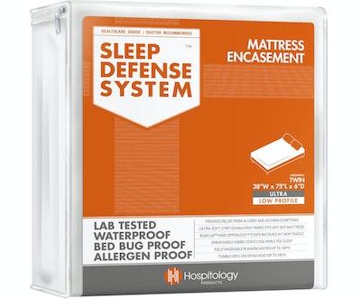 Hospitology Zippered Mattress Encasement & Hypoallergenic Waterproof Protector