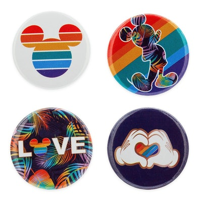 Rainbow Disney Collection Mickey Mouse Button Set
