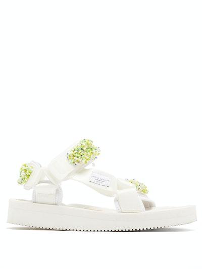 x Suicoke Maria Beaded Velcro-Strap Sandals