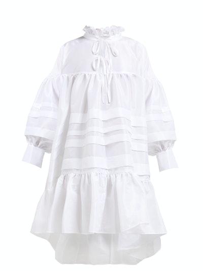 Macy Ruffled Taffeta Midi Dress