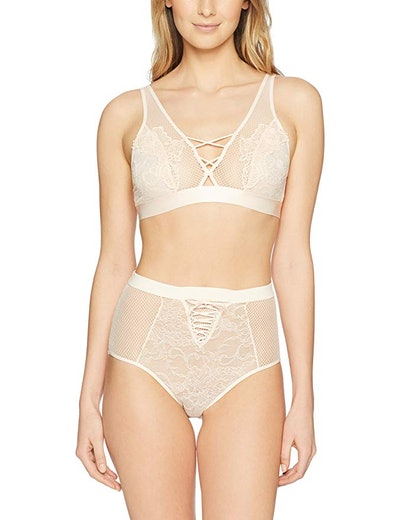 Mae Allover Lace Bralette And Panty Set