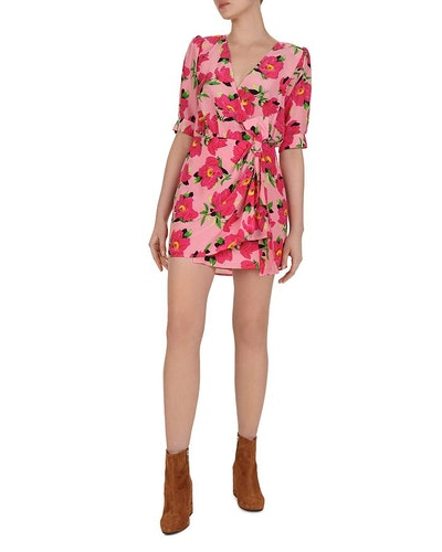 Peony in Love Silk Mini Dress