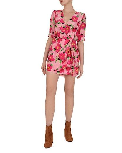 Peony in Love Silk Mini Dress