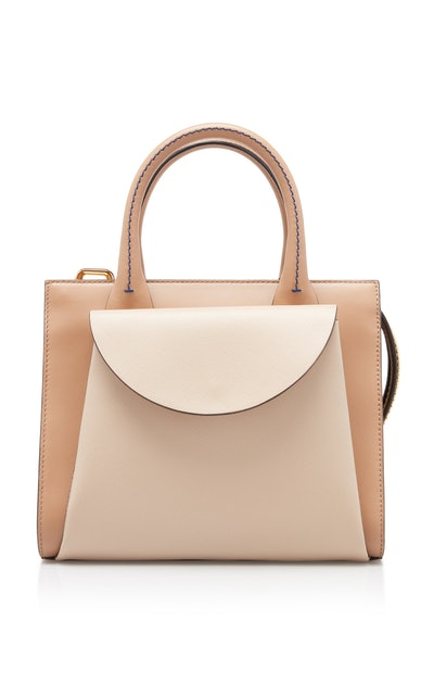 Small Law Leather Top Handle Bag
