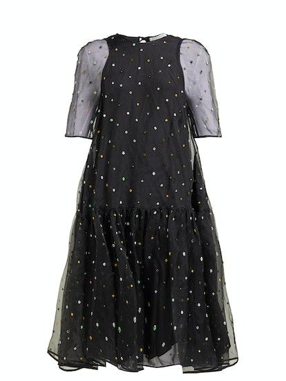 Annabella Floral-Beaded Silk-Organza Dress