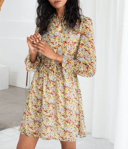 Floral Ruffled Mini Dress