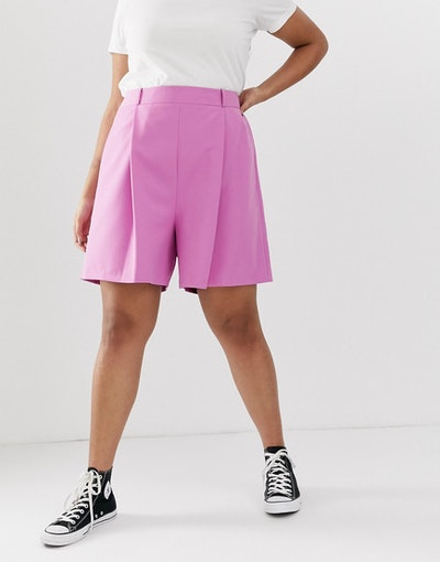 Curve Pink Mom Shorts