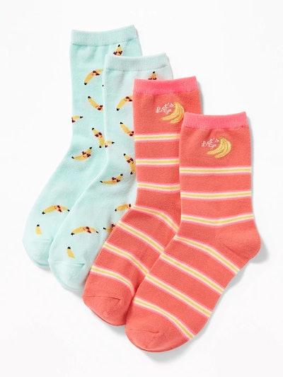 Crew Socks 2-Pack for Girls