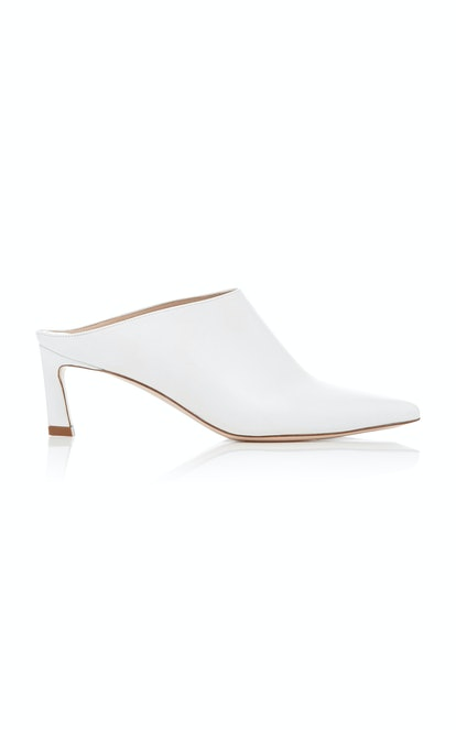 Mira Leather Pointed-Toe Mules