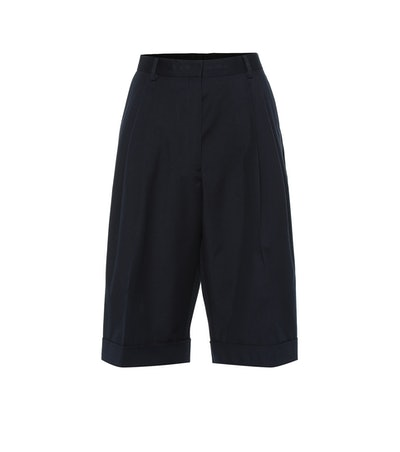 Cotton-Wool Blend Shorts