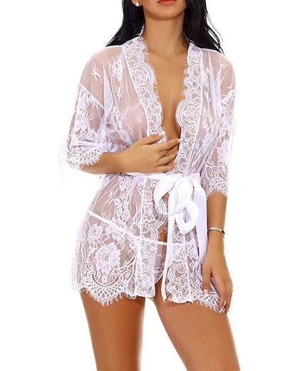 Lomon Sheer Robe