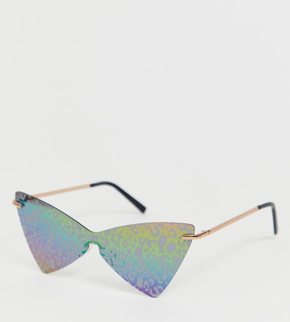 Fashion Glasses with Leopard Overlay