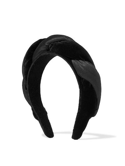 Braided Velvet And Satin Headband