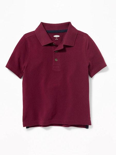 Pique Uniform Polo for Toddler Boys