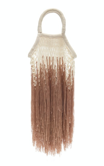 Mini Ombre Fringed Cotton Bag