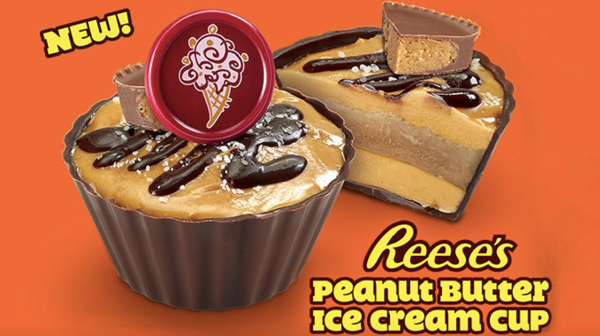 Cold Stone Creamery's Reese's Peanut Butter Ice Cream Cups Are A Big Summer Mood
