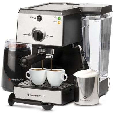 EspressoWorks 7 Piece All-In-One Espresso Machine
