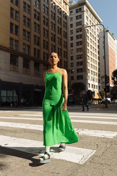 Poppy Skirt in Lime