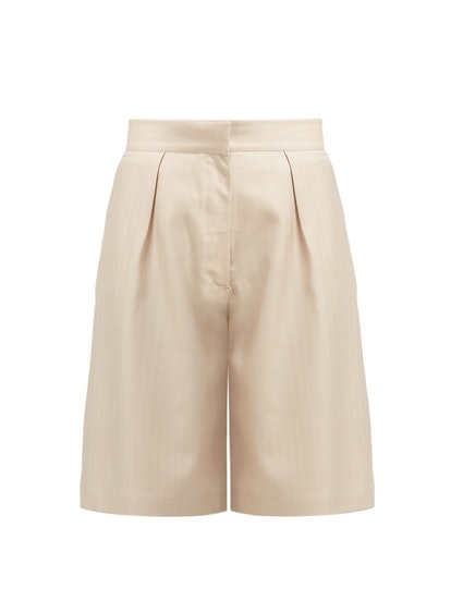 Wool and Silk-Blend Shorts