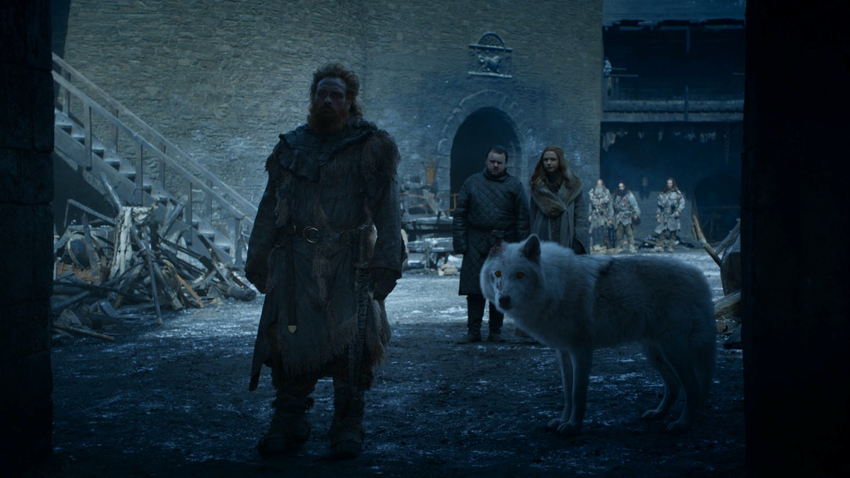 Jon & Ghost Reunited In The 'Game Of Thrones' Finale & Fans Are FINALLY Satisfied