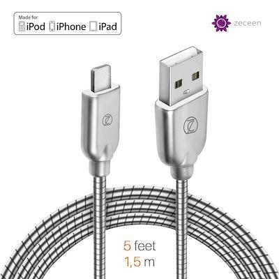 ZECEEN Metal USB Lightning Cable