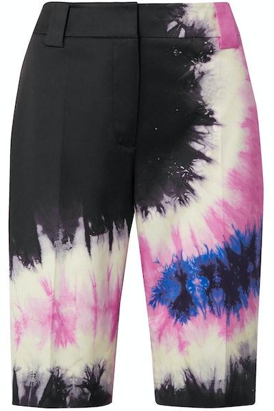 Tie-Dye Cotton Poplin Shorts