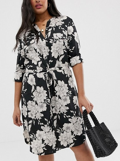 Shirt dress in Bold Floral Print