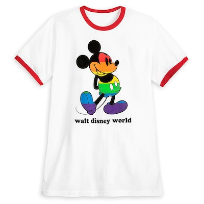 Rainbow Disney Collection Mickey Mouse Ringer T-Shirt for Adults - Walt Disney World
