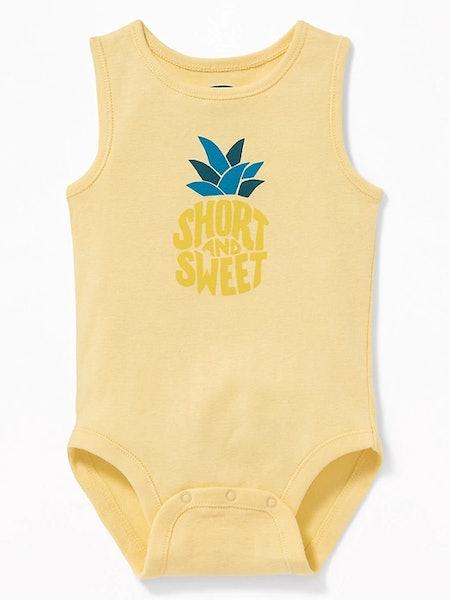 Graphic Sleeveless Bodysuit for Baby