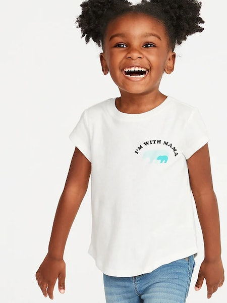 Graphic Crew-Neck Tee for Toddler Girls