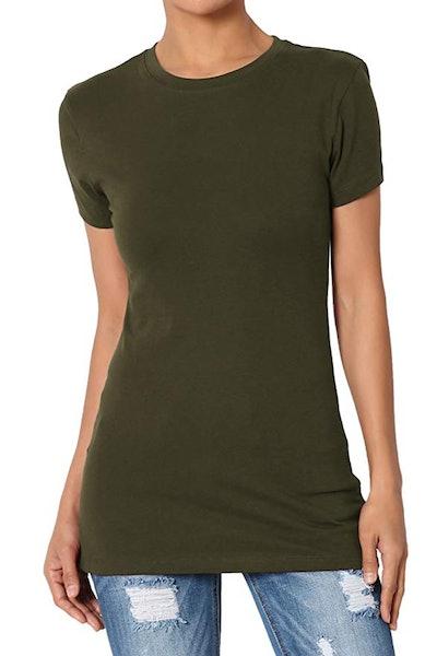 TheMogan Basic Round Crew Neck Short Sleeve T-Shirt