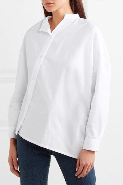 Noma Asymmetric Cotton-Poplin Shirt