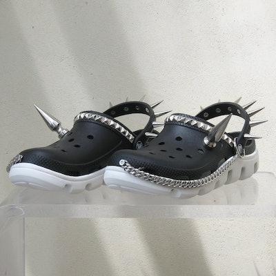 Goth Croc Trainers