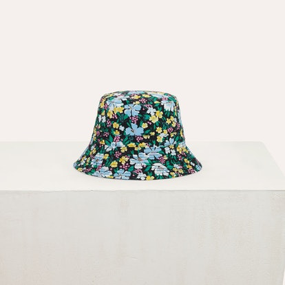 BUCKET HAT IN FLORAL PRINTED COTTON