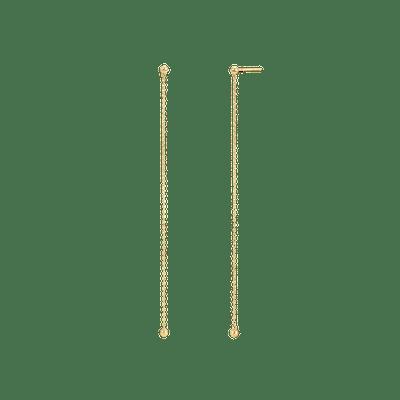 Single Sphere Chain Earrings