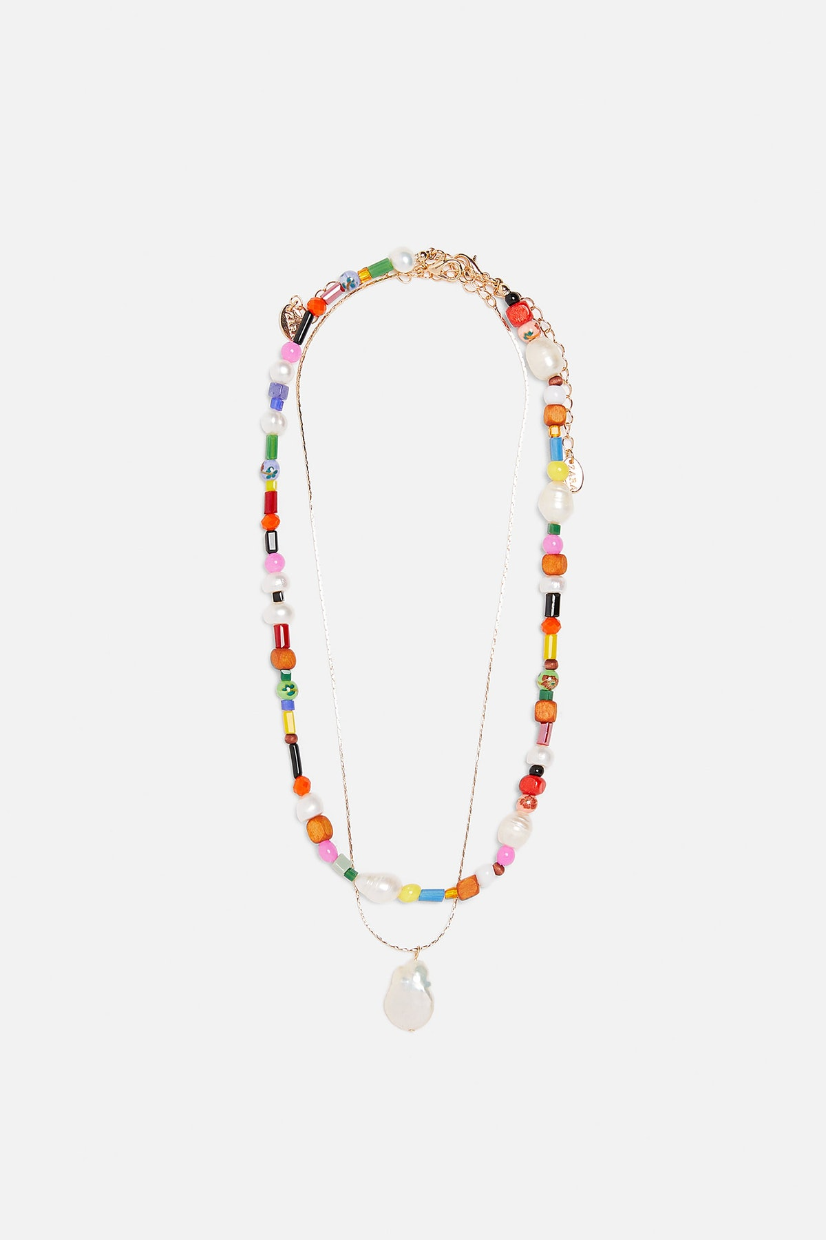 PACK OF MULTI-COLORED NATURAL PEARL NECKLACES