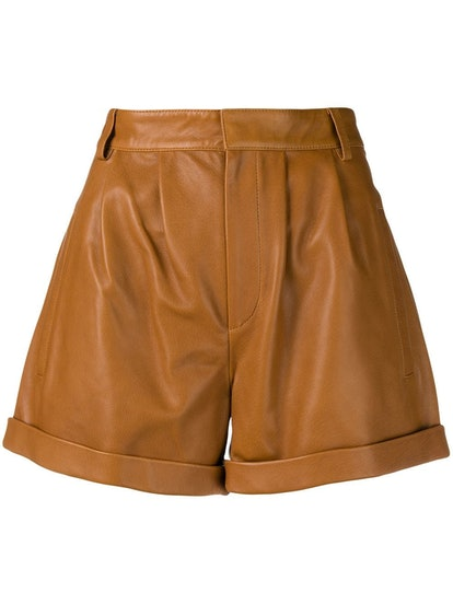 Tailored Leather Shorts