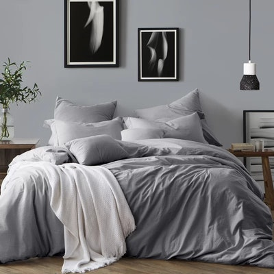 Coolidge Duvet Cover Set in Ash Grey, Queen