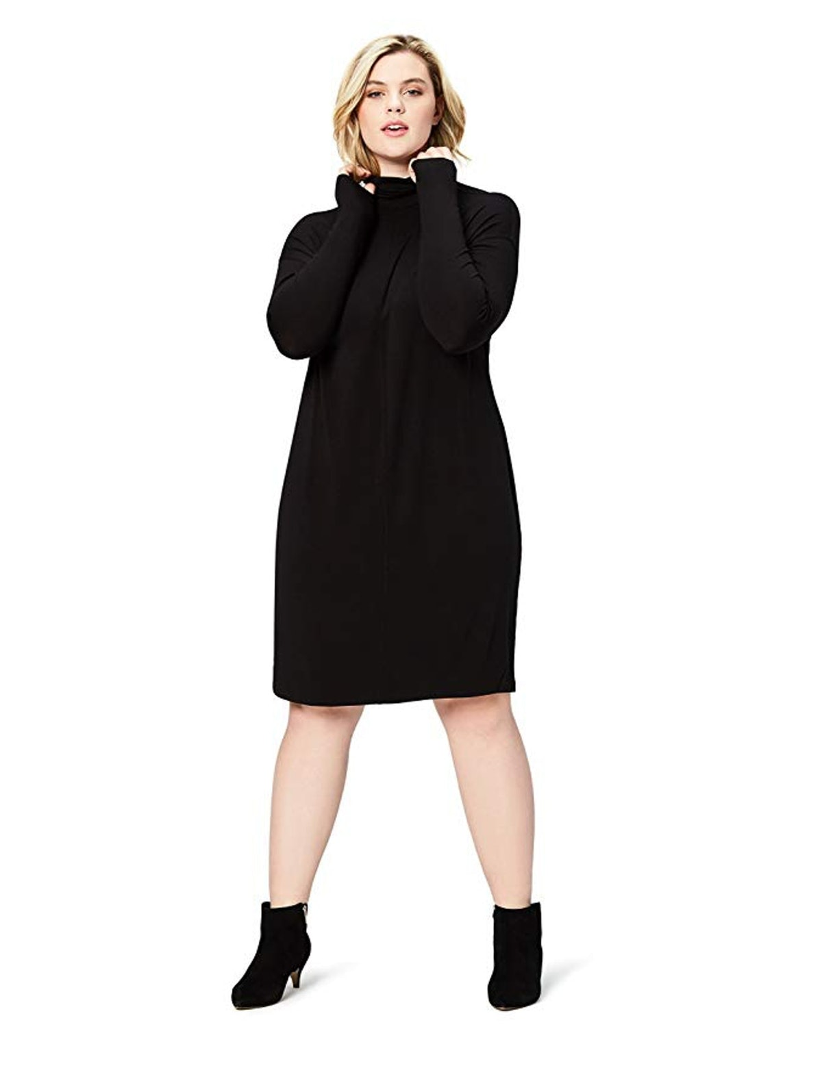 Daily Ritual Women's Plus Size Long-Sleeve Turtleneck Dress