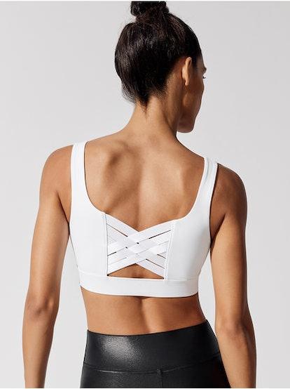 Carbon38 Basket Weave X-Back Bra