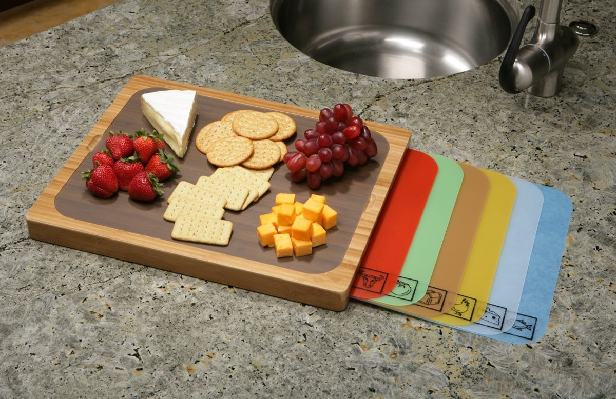 Seville Classics Easy-To-Clean Bamboo Cutting Board Set (8 Pieces)