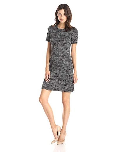 Lark & Ro Women's Short Sleeve Mélange Fit and Flare Dress