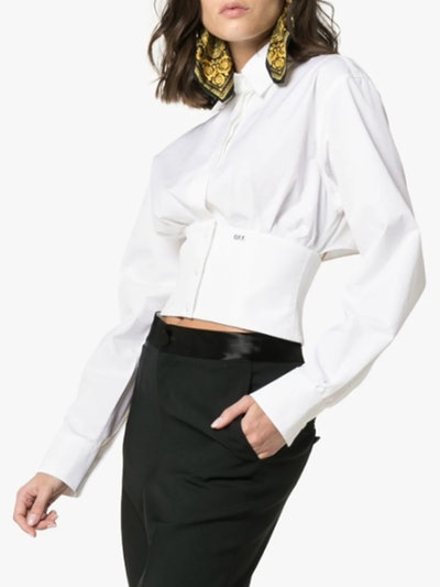 Collared Lace-Up Back Shirt