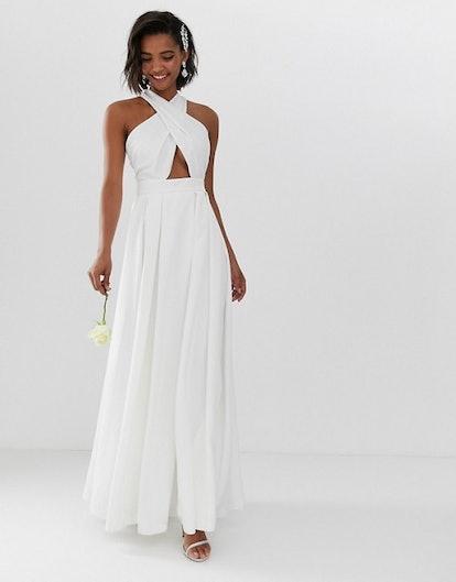 Cross Front Wedding Dress